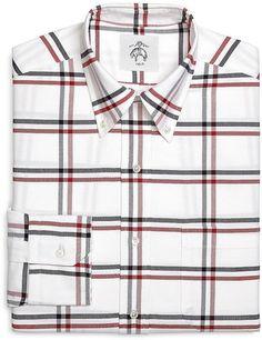 Windowpane Oxford Button-Down Shirt