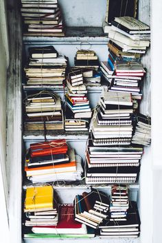 Books by Simson Petrol Via Flickr: Life goal: have this many notebooks/journals.