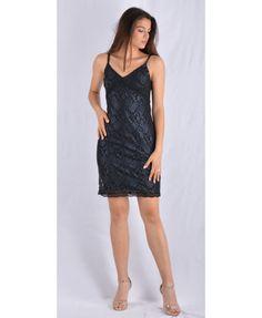 Μαύρο μίνι φόρεμα με μπλέ σκούρη δαντέλα. Ένα αμπιγέ βραδινό φόρεμα για κάθε είδους επίσημη εμφάνιση. Κατασκευασμένο στην Ελλάδα απο 90 % πολυεστέρα και 10 % λύκρα. Mini Dresses, Black, Fashion, Moda, Black People, Fashion Styles, Fashion Illustrations, Short Dresses
