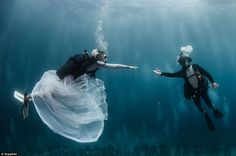 Big day, big spectacle:Hotel Metropole in Monte-Carlo, Monaco, has created a series of luxury bespoke wedding experiences for couples where they are invited to say 'I do' with a 'magical underwater background' under the Mediterranean Sea