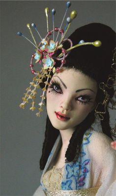 Geisha by Nicole West. OOAK Doll.