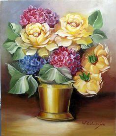 Quadros de Flores - Pintura a óleo - Waldir Catanzaro
