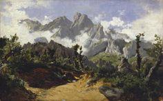 Nieblas (Picos de Europa)Hacia 1874; Carlos de Haes; óleo sobre lienzo; 37 x 59 cm. Museo del Prado