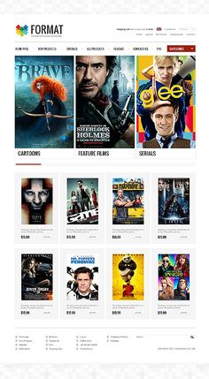 Format Store ZenCart Templates by Di Feature Film, Website Template, Website Ideas, Templates, Cartoon, Store, Movie Posters, Live, Models