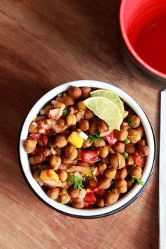 kala chana chaat - a warm spicy snack made from black chickpeas and indian spices