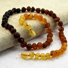 Raw amber Adult Necklace 18. Raw unpolished by BalticAmberCity
