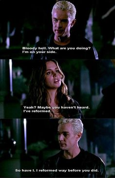 BTVS Spike and Faith If I were Buffy I'd be jealous of Faith too. Because Faith has superpowers too, and she's still a just a bad girl.