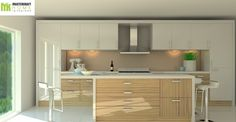 Design 4 High End Kitchens, Kitchen Interior, Corner Desk, Kitchen Cabinets, Interiors, Modern, Furniture, Design, Home Decor