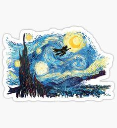 'starry magic' Sticker by mrsconanobrien – Car stickers Stickers Cool, Stickers Kawaii, Cute Laptop Stickers, Bubble Stickers, Phone Stickers, Anime Stickers, Journal Stickers, Printable Stickers, Homemade Stickers
