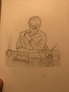 Reading boy sketch