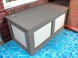 DIY storage bench... looks like I found a fun project for Ben and I this summer!