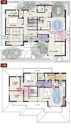 Flat Plan, Japanese House, Home Design Plans, House Layouts, House Floor Plans, My Dream Home, House Design, Flooring, How To Plan
