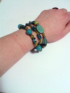 Sea Green & Turquoise Bracelet Trio