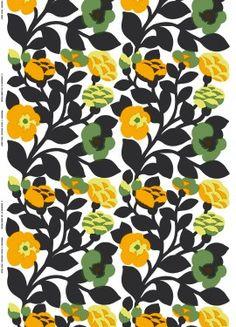Green green fabric by Marimekko. Pattern Design by Katsuji Wakisaka.