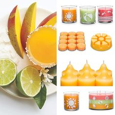 Enjoy the sunny scent of mango and rum stirred with a splash of lime with Poolside Passion - one of three new scents for summer from PartyLite.