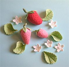 fondant strawberries