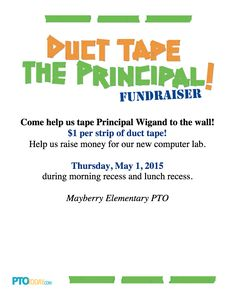 Use our flyer to promote your duct-taping event!