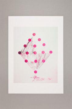 Gelatology - 006 Candy Sugar / A3 Risograph Print
