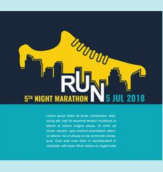 City marathon poster - running sport shoe and vector Marathon Signs, Marathon Logo, Marathon Posters, Marathon Quotes, Dance Marathon, City Marathon, Marathon Runners, Marathon Diet, Marathon Tattoo