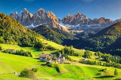 Santa Maddalena alpine village by Ga-Joe Photography on @creativemarket