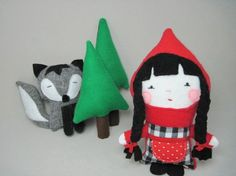 Cute Little Red Riding Hood plushie toys
