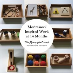 Montessori Inspired Work at 14 Months Montessori 12 Months, Montessori Trays, Montessori Playroom, Montessori Preschool, Montessori Education, Montessori Materials, Baby Education, Montessori Infant, Montessori Quotes
