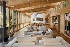 Narrow wood house
