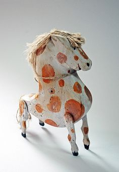 painted wooden pony