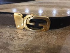 3fce60df4f6 VINTAGE GUCCI MENS LADIES REVERSIBLE BELT GG GOLD BUCKLE BLACK  BROWN 36 1  WIDE  fashion  clothing  shoes  accessories  womensaccessories  belts (ebay  link)