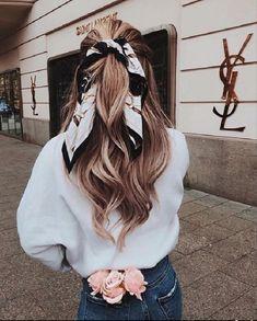 Scarf Hairstyles, Pretty Hairstyles, Braided Hairstyles, Hairstyles For Summer, Long Blonde Hairstyles, Bandana Hairstyles For Long Hair, Glasses Hairstyles, Fashion Hairstyles, Teen Hairstyles