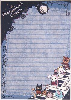 cute Sentimental Circus Memo Pad bunny & musical notes 5