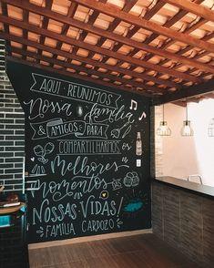 Cafe Design, Interior Design, Blackboard Wall, Letter Wall, Blackboards, Chalkboard Quotes, Bbq, Lettering, Cool Stuff