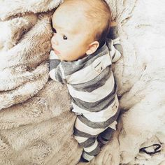 Baby Henry loves to lounge around in our cozy 100% cotton pajamas! Thanks @mrs_mittelstet for sharing this adorable photo! #burtsbeesbaby #fanphoto #cuteness