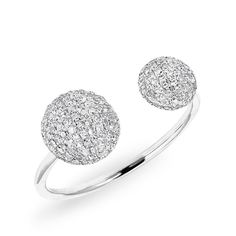 14KT White Gold Diamond Knob Ring