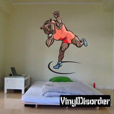 Track And Field Wall Decal - Vinyl Sticker - Car Sticker - Die Cut Sticker - CDSCOLOR016