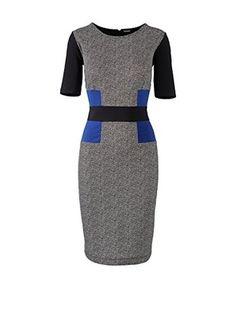 Apart Vestido Jersey (Negro / Crema)