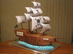 Image result for pirate ship cake