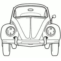 Coloriage Coccinelle VW