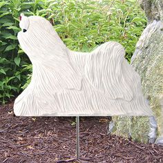 Maltese Figure Yard Garden Stake Home Yard & Garden Dog Breed Products & Gifts