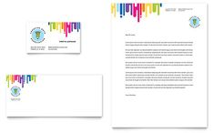 Private Bank Business Card And Letterhead Design Template By
