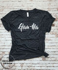 Glam Ma shirt best grandma glamma tee shirt Nana shirt Best Glamma grandma tee G - Rad Shirt - Ideas of Rad Shirt - Glam Ma shirt best grandma glamma tee shirt Nana shirt Best Glamma grandma tee Glamma life is the best gift for grandpa Personalized Gifts For Grandparents, Grandpa Gifts, Shirts With Sayings, Mom Shirts, T Shirts For Women, Colorful Shirts, New Baby Products, Shirt Designs, Tees