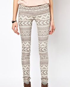 Buy Vero Moda Grey Aztec Skinny Jeggings at ASOS. Get the latest trends with ASOS now. Style Casual, Style Me, Casual Styles, Jeggings, Aztec Pants, Motifs Aztèques, Fashion Outfits, Womens Fashion, Cute Outfits