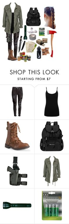 """""""Z-nation"""" by shaya-bvb-4-life ❤ liked on Polyvore featuring M&Co, Aéropostale, Sherpani, Holster, Alice In The Eve, Maglite and NIKE"""