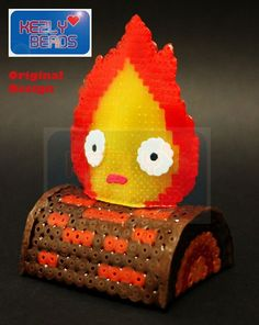 Calcifer - Howl's Moving Castle hama beads by Kezly Beads