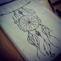 Apanhador de sonhos pra tatuar na perna