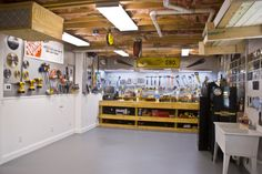 Man cave workshop | Man's Cave - Home Workshop, This is a basement workshop that I ...