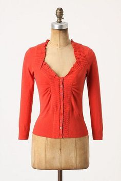 Anthropologie Sweater Orchard House Cardigan By Rosie Neira New XS Red Orange #Anthropologie #Cardigan