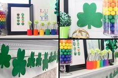 St. Patrick's Day mantel decorations!