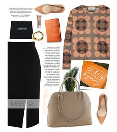 """""""New beginning: Mirelisa 4/1"""" by merima-kopic ❤ liked on Polyvore featuring moda, Privé, Post-It, Marni, Zara, GUESS, Urban Decay, women's clothing, women's fashion y women"""