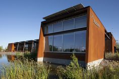 Image 1 of 15 from gallery of Rio Salado Audubon Center / WEDDLE GILMORE black rock studio. Photograph by Bill Timmerman Downtown Phoenix, Green Architecture, Landscaping Company, Black Rock, Green Building, Sustainable Design, Solar Power, Building Design, Facade